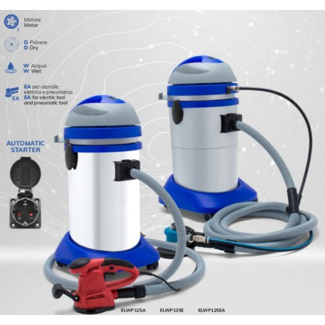 Wet&Dry Vacuum Cleaner with polypropiline tank  to be used together with an electric or pneumatic tool