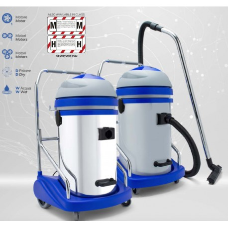 Wet&Dry Vacuum Cleaner with 2 motor, with polypropiline 76 litres tank.