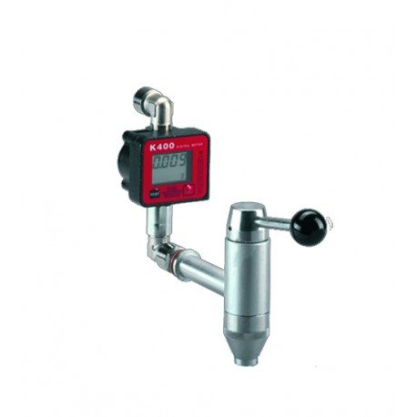 Tap with oil meter, for oil and cooling liquids