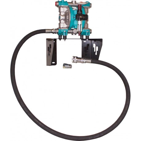 Wall mounted suction kit with diaphragm pump