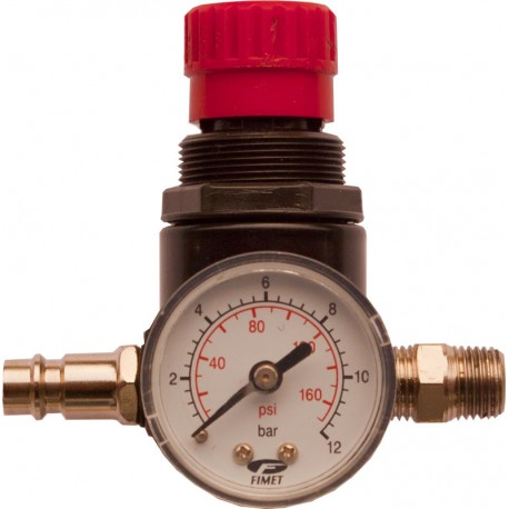 Pressure Regulator with manometer 0-12 bar.