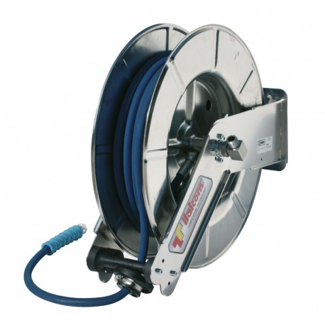 Stainless steel Hose reel for water with hose 18m