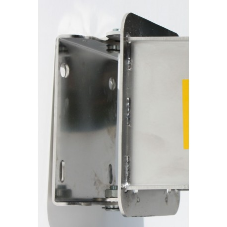 Swiveling wall bracket in stainless steel for 684xx