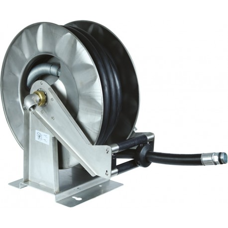 Stainless steel Rotary Hose reel for diesel  with 15 m hose