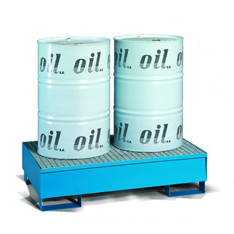Safety tanks for oil in steel for 2 drums of 200 litres